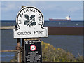J5682 : Sign, Orlock Point by Rossographer