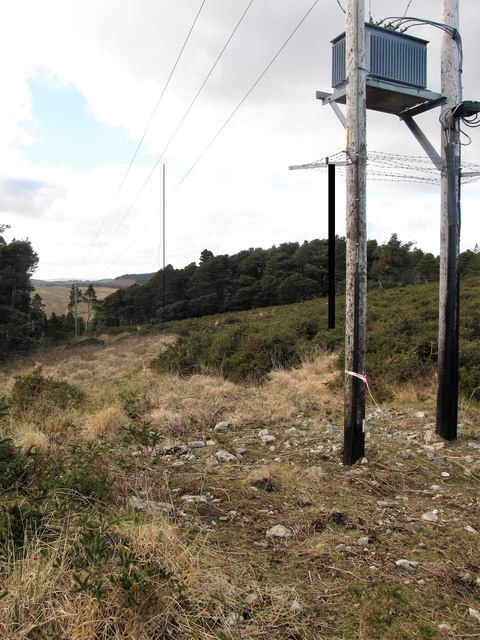 Electricity transformer on the summit of Drinnahilly