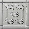 TQ2683 : St Johns Wood tube station - ceramic tile by Mike Quinn