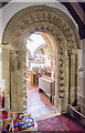 SK8251 : Norman archway, St Giles' church, Balderton by Julian P Guffogg