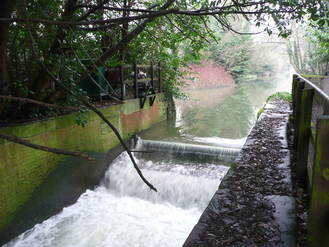 Weir on the River Gipping, Sproughton