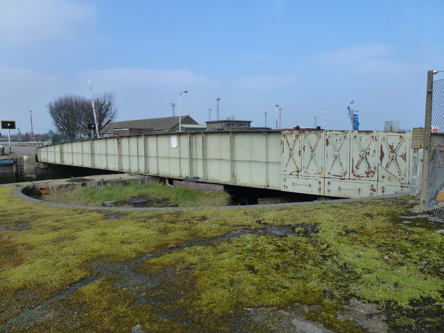 Former railway bridge in King's Lynn docks