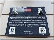 SO8455 : Plaque in Foregate Street by Basher Eyre