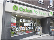 SO8554 : Oxfam Bookshop, High Street by Basher Eyre