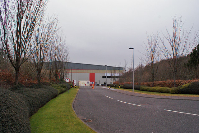 Entrance to industrial unit