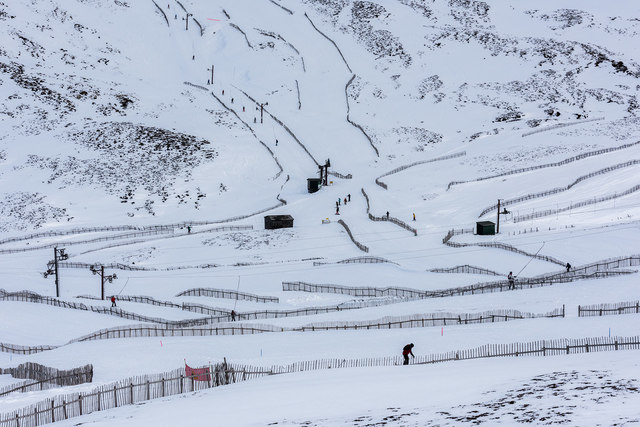 Ski tows at Glenshee Ski Centre