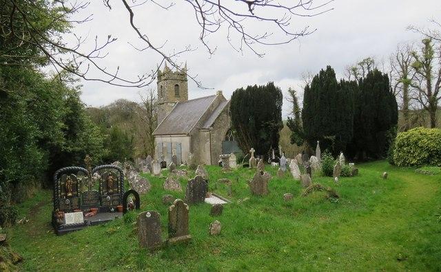 Abandoned church and graveyard