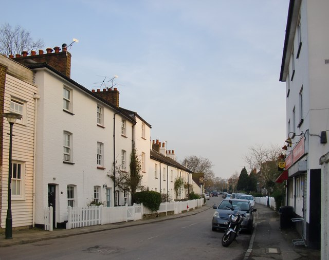 Ham Street: view south-eastwards towards the Common