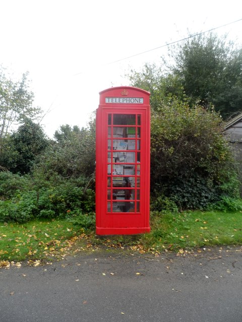 Telephone box used as a book exchange, Great Glemham