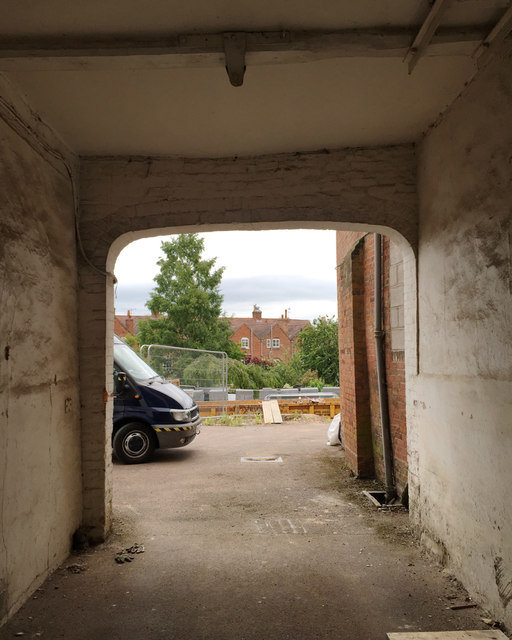 View from the front to the back of 18th-century Northgate Street, Warwick