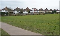 TQ1185 : Houses backing onto a recreation ground, South Ruislip by Christine Johnstone