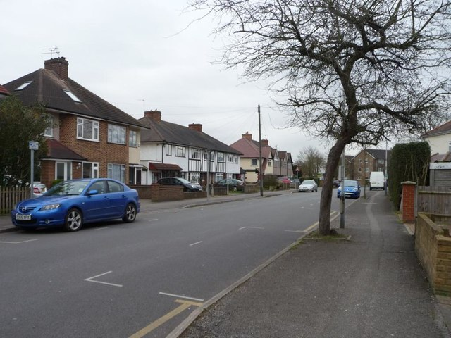 Houses on the south side of Long Drive, South Ruislip