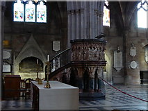 SO8554 : Inside Worcester Cathedral (lv)  by Basher Eyre