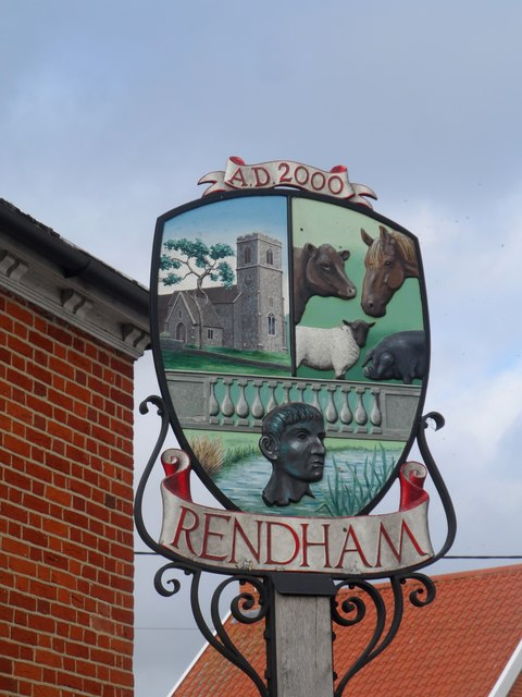 Rendham village sign