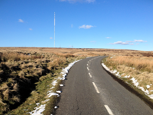 The Road to Winter Hill Mast