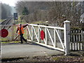 SK2853 : Ecclesbourne Valley Railway - closing the Gorsey Bank crossing gates by Chris Allen