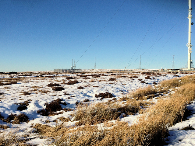 Winter Hill near the Transmitter Mast