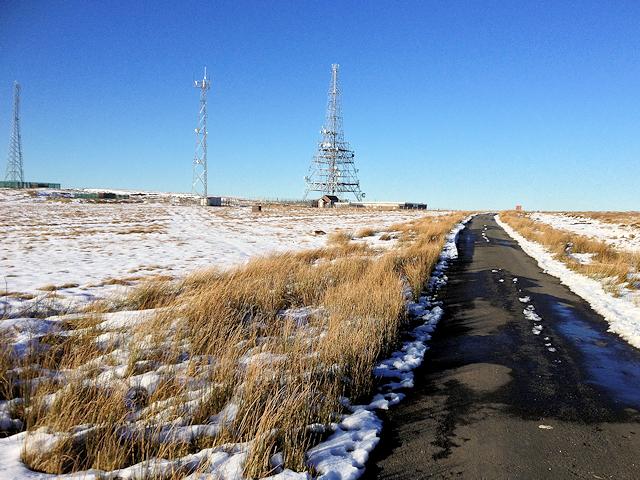 Communications Masts on Winter Hill