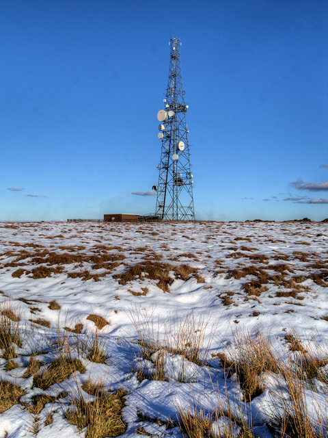 Communications Mast on Winter Hill