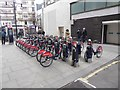 TQ2881 : Bike hire station by Bond Street Station by Oliver Dixon