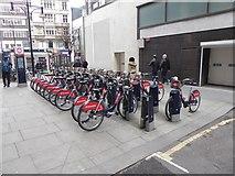 TQ2881 : Bike hire station by Bond Street Station by Oliver Dixon