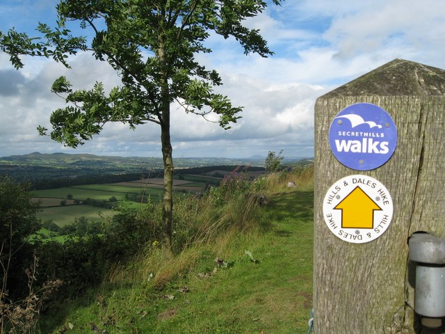 Flounders Folly walk this way-Lower Dinchope, Shropshire