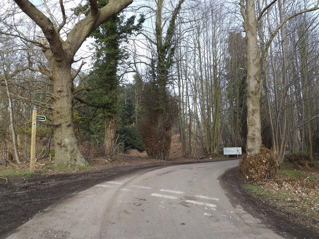 Bridleway & entrance to Minsmere