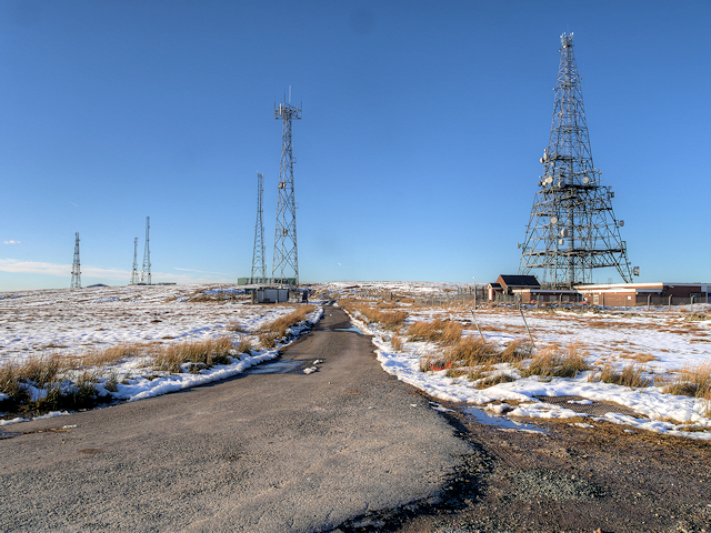 Communications Masts at the top of Winter Hill