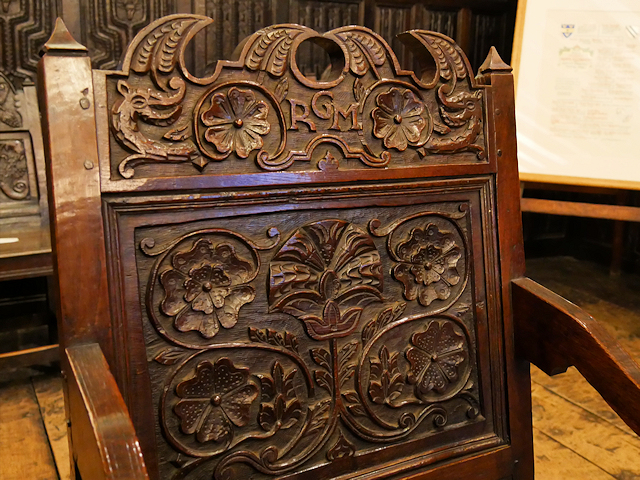 Carved Chair in the Withdrawing Room at Smithills Hall