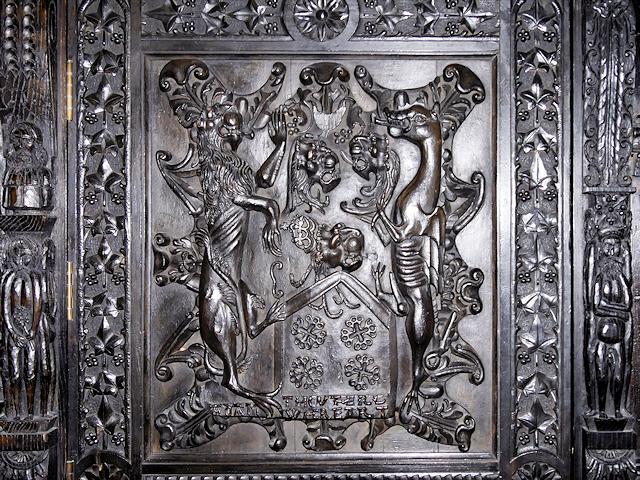 Heraldic Panel, Smithills Hall Library