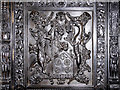 SD6911 : Heraldic Panel, Smithills Hall Library by David Dixon