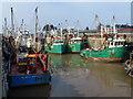 TF6120 : Fishing boats by the quays - The Fisher Fleet, King's Lynn by Richard Humphrey