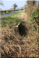 SP4512 : Roadside ditch and culvert SE of Burleigh Farm by Roger Templeman