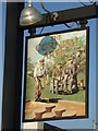 SW8874 : The Cornish Arms inn sign by Philip Halling
