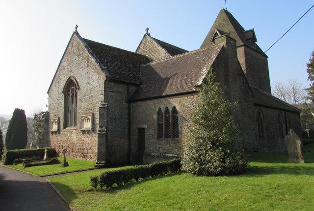 Northeast corner of the Parish Church of St David,  Much Dewchurch