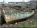 TF6120 : Abandoned fishing boats - The Fisher Fleet, King's Lynn by Richard Humphrey
