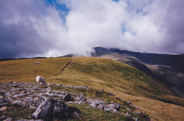 The ridge walk from the summit of Pen yr Helgi Du towards Carnedd Llywelyn