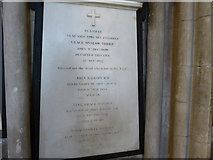 SO8554 : Worcester Cathedral: memorial (82) by Basher Eyre
