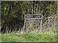 TM0683 : Bates Lane sign by Adrian Cable