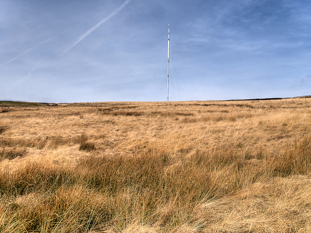 Smithills Moor and Winter Hill Transmitter Mast