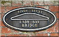 SK5838 : Name plaque on the Lady Bay Bridge by Mat Fascione