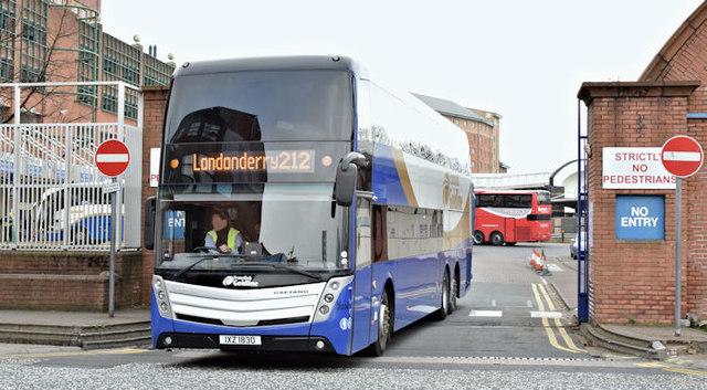 Ulsterbus Caetano, Belfast (March 2016)