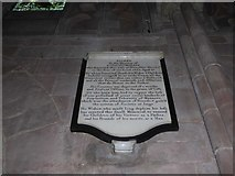 SO8554 : Worcester Cathedral: memorial (95) by Basher Eyre