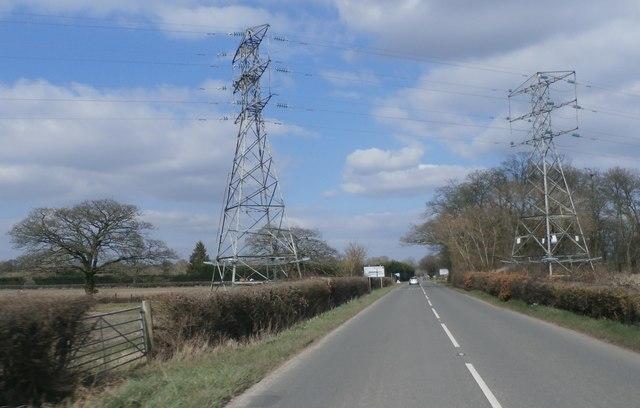 Electricity Pylons at Danemoor Cross