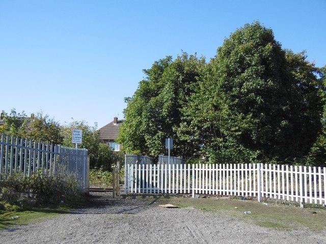 Railway crossing, Earsdon Junction site