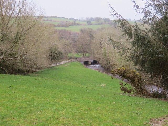 Country road bridge over the river Tuough
