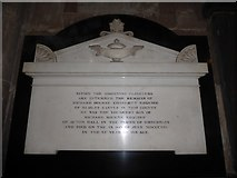 SO8554 : Worcester Cathedral: memorial (117) by Basher Eyre