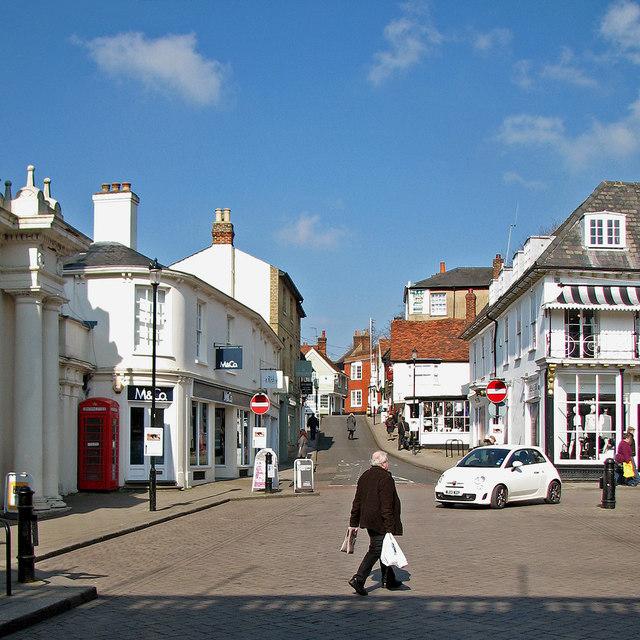 Saffron Walden: up Market Hill