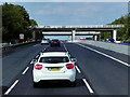 SE2920 : Flyover Bridges at M1 Junction 40 by David Dixon