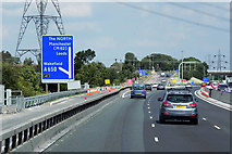 SE3024 : Northbound M1, Exit at Junction 41 by David Dixon